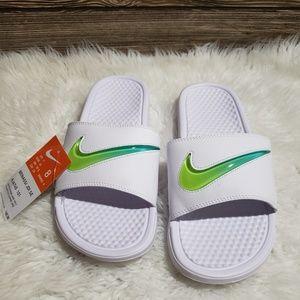 New Nike Benassi JDI SE white Slides